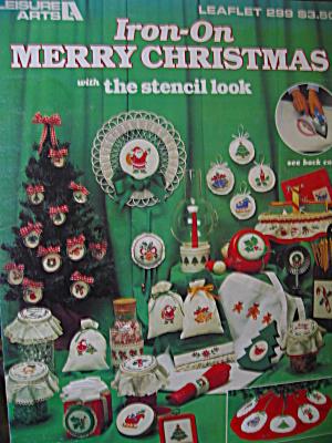 Leisure Arts Iron-On Merry Christmas #299 (Image1)