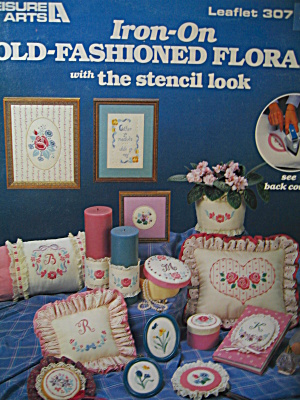 Leisure Arts Iron-On Old-Fashioned Florals  #307 (Image1)