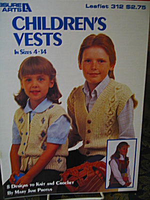 Leisure Arts Children's Vests #312