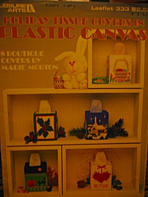 Leisure Arts Holiday Tissue Covers Plastic Canvas #333