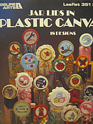 Leisure Arts Jar Lids In Plastic Canvas #351