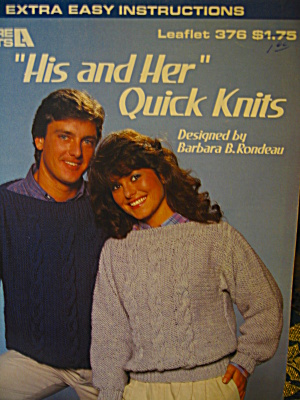 Leisure Arts His And Her Quick Knits #376