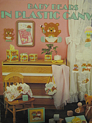 Leisure Arts Baby Bears In Plastic Canvas #408