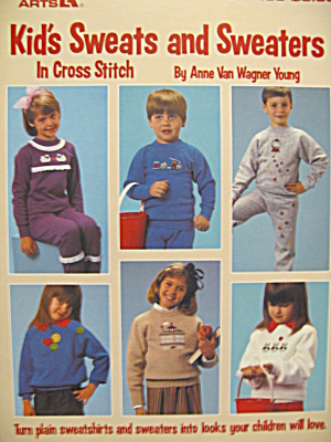 Leisure Arts Kid's Sweats/sweaters In Cross Stitch #433