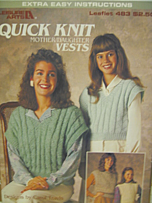 Leisure Arts Quick Knit Mother/Daughter Vests  #483 (Image1)