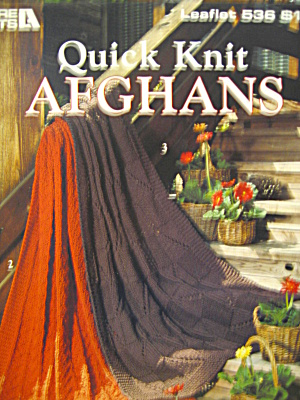 Leisure Arts Quick Knit Afghans #536
