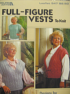 Leisure Arts Full-Figure Vests to Knit #547 (Image1)