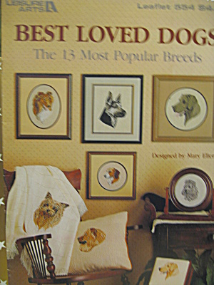 Leisure Arts Cross Stitch Best Loved Dogs  #554 (Image1)