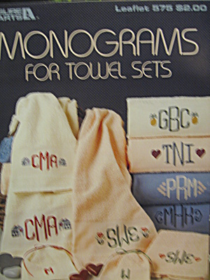 Leisure Arts Monograms For Towel Sets #575