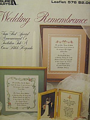 Leisure Arts Wedding Remembrance #576