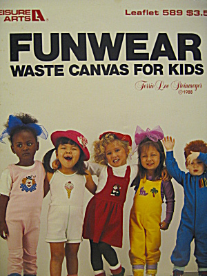 Leisure Arts Funwear Waste Canvas For Kids #589
