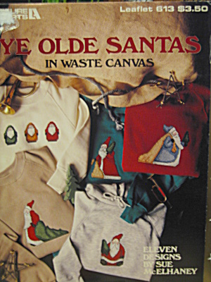 Leisure Arts Ye Olde Santas In Waste Canvas #613