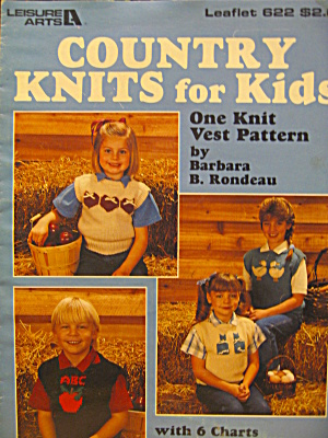 Leisure Arts Country Knits For Kids #622