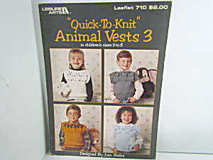 Leisure Arts Animal Vests 3 Quick-to-knit #710