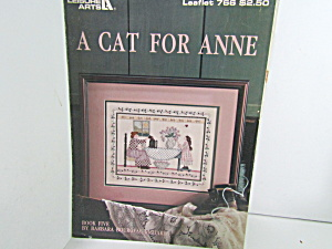 Leisure Arts  Sampler A Cat For Anne #766 (Image1)