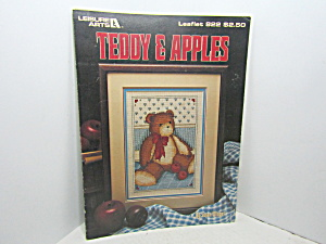 Leisure Arts Teddy & Apples Cross Stitch #822