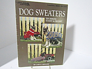 Leisure Arts Crochet/knit Dog Sweaters #934
