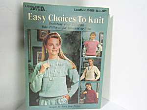 Leisure Arts Easy Choices To Knit Yoke Patterns #965