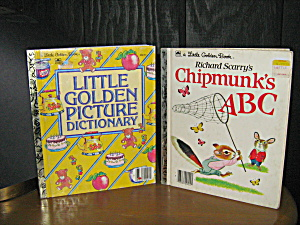 Little Golden Picture Dictionary & Chipmunk's A B C