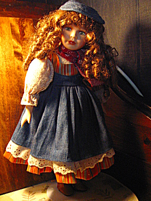 Angelina Porcilian Blue Denim Doll