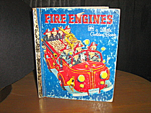 Little Golden Book Fire Engines Book