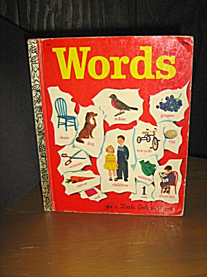 Little Golden Book Vintage,words