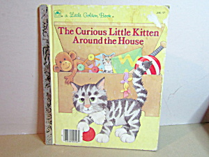 Golden Book The Curious Little Kitten Around The House
