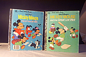 Little Golden Book Disney Set Of 2 Mickey Mouse Books