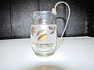 Libbey Golden Leaf & Golden Foliage Syrup Pitcher.