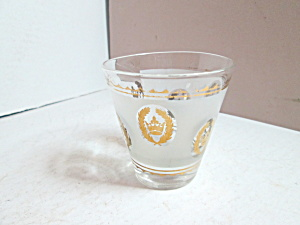 Vintage Libbey Gold Crown Small Cocktail Glass