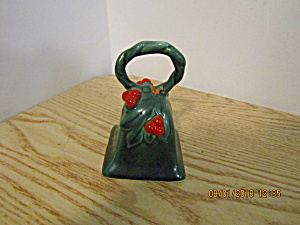 Vintage Lefton Green Holly Bell