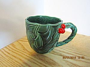 Vintage Lefton Green Holly Coffee/Tea/Punch Mug (Image1)