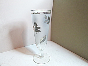Vintage Libbey Silver Leaf Iced Tea Glass