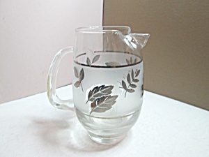 Vintage Libbey Silver Leaf Cocktail Pitcher