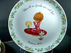 Collector Plate Christmas 1973 Gigi