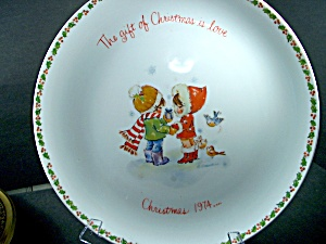 Collector Plate Christmas 1974 Gigi