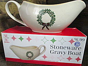Merry Brite Holiday Homecollection Stoneware Gravy Boat