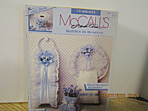 Mccall's Fabric Craft Creates Ruffles In Reserve #14173
