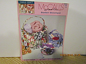 Mccall's Fabric Craft Creates Basket Boutique #14213