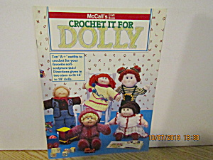 Mccall's Craft Book Crochet It For Dolly #8502