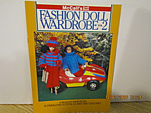 Mccall's Craft Book Fashion Doll Wardrobe Book 2 #8509