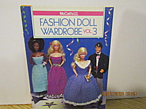 Mccall's Craft Book Fashion Doll Wardrobe Book 3 #8510