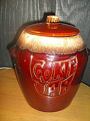 Mccoy Brown Drip Cookie Jar