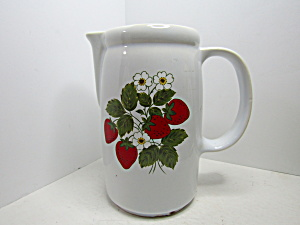 Vintage Mccoy Strawberry Country Water Pitcher