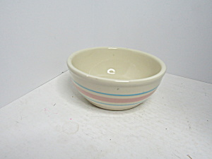 Vintage Mccoy Pink/blue Stonecraft Cereal Bowl