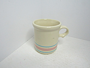 Vintage Mccoy Pink/blue Stonecraft Coffee Mug