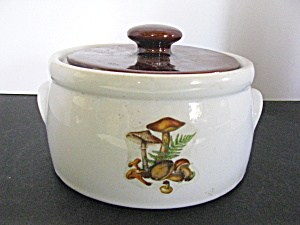 Vintage Mccoy Covered Bean Dish Canister