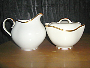 Meito Norleans China El Dorado Covered Sugar & Creamer