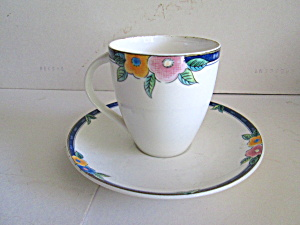 Mikasa Floral Bliss Cofee Cup And Saucer
