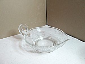 Vintage Fostoria Embossed  One Handled Nappy (Image1)